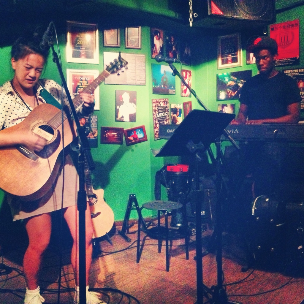 Rocking the Lush Open Mic Night with Daniel back in July