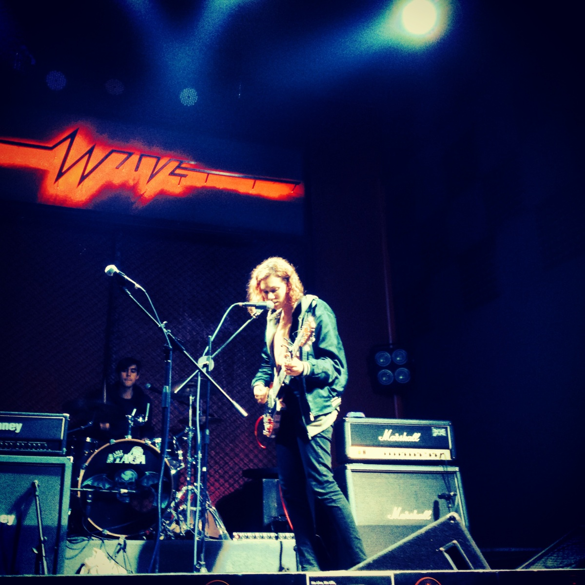 Sound checking at Wave Livehouse in Suzhou on a v. high stage