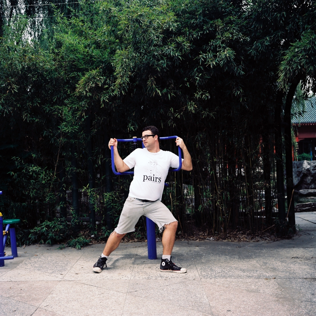 Flexin' in Xi'an on the public exercise playgrounds