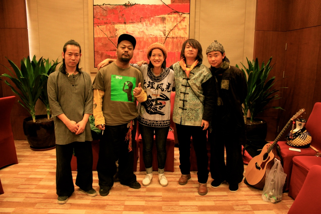 Typical me being a fan and having a photo with the band.