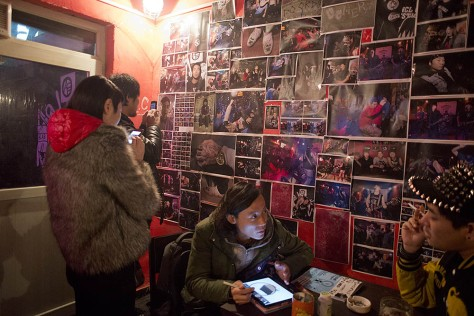 Wellington punk photo exhibition at DMC, Tongzhou, Beijing. Photo courtesy of John.
