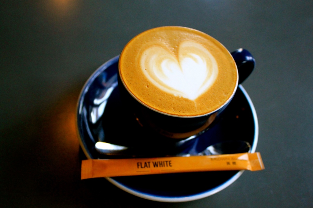 A divine Flat White. 'Super' beans from Rickshaw Roasters and fresh Wondermilk.