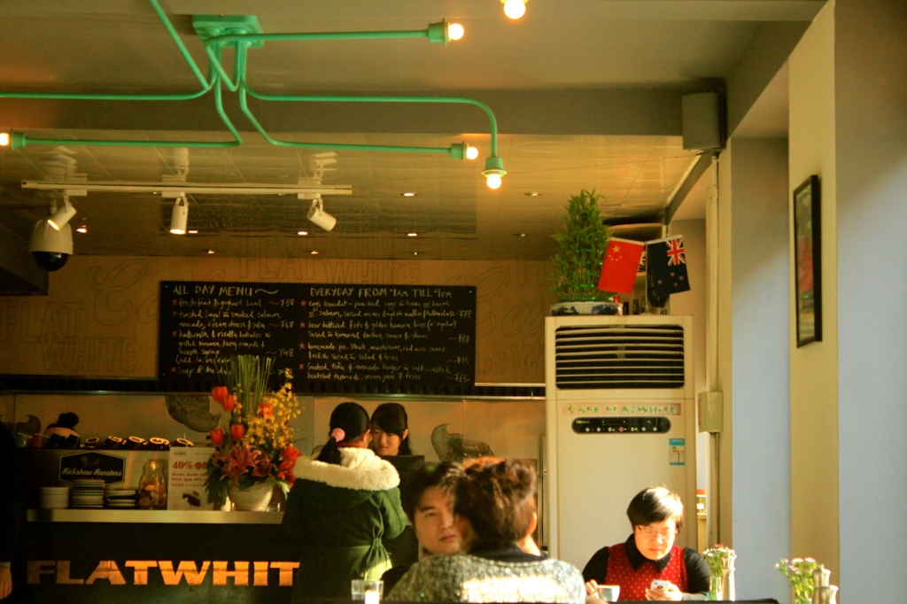 The Flat White 798 Art District Store. Killer Eggs Benedict, though it ain't cheap.