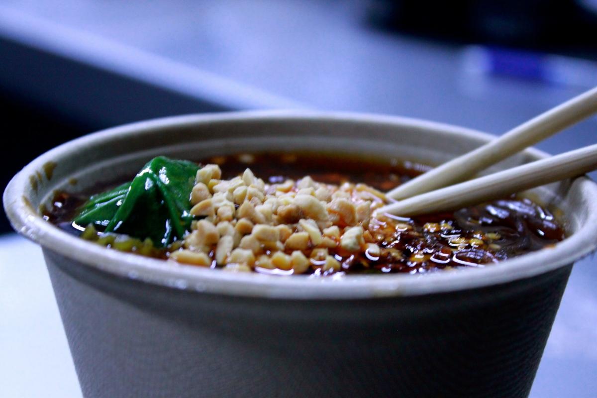 Yum yum yum yum Sichuan Street Noodles.