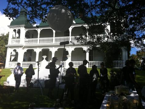 Cast and crew shooting around Auckland.