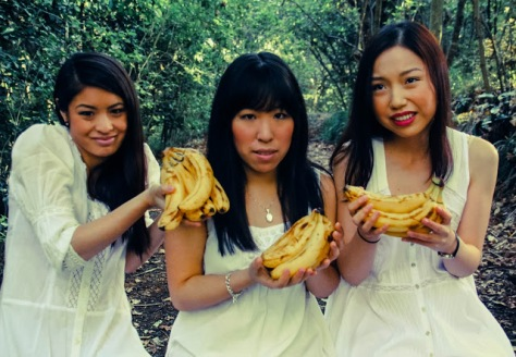 """""""It's for our non-wedding photo album, of all the guests holding different fruits,"""""""