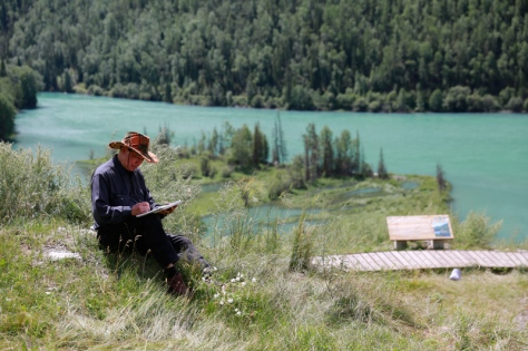 Stan on his recent trip to Xinjiang. From inkLink website.