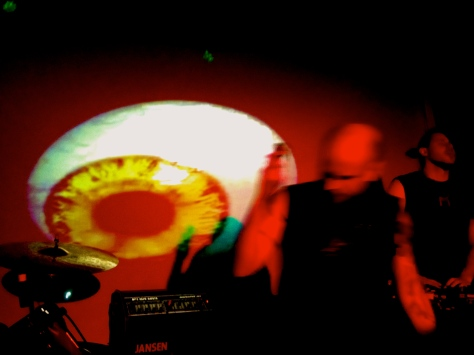 The All Seeing Hand and that all seeing eyeball at Valhalla 5 July 2014. With Orchestra of Spheres and Seth Frightening.