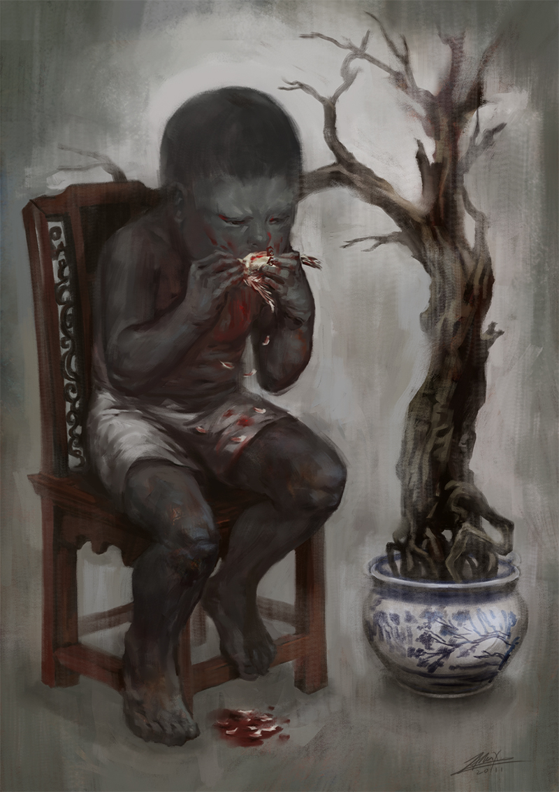 'Greed' Image from Allan Xia.