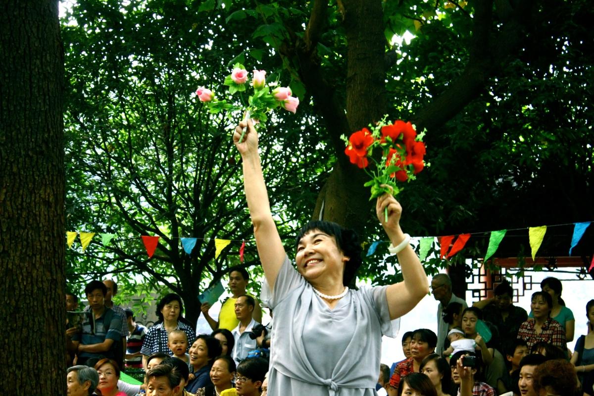 A regular Saturday at People's Park, Chengdu.
