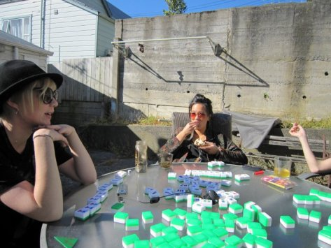 Mahjong sesh, Newtown 2010.