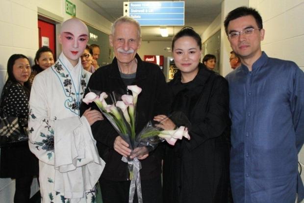 Dong Fei (Kunqu Opera), composer Jack Body, Wu Na (guqin) and Gao Ping (pianist). Photo: Lynda Chanwai-Earle.