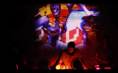 Shocking Pinks DJ Set at Dada with visuals by Lady Lazer Light. Sept 2015.